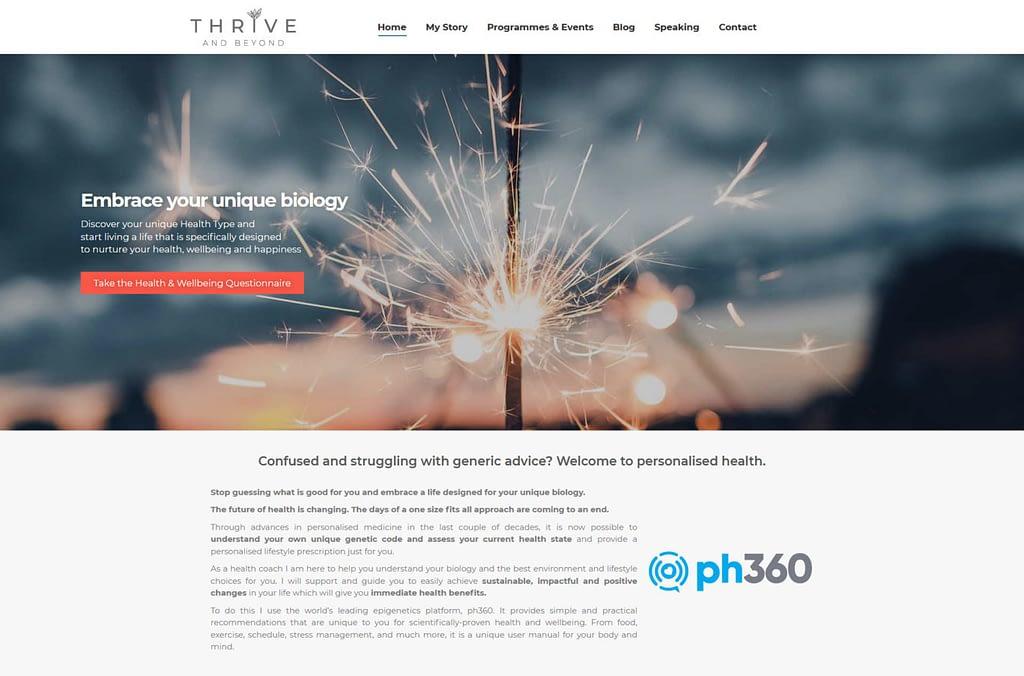 Thrive Beyond Website Portfolio