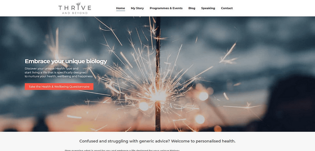 Thrive and Beyond Website Portfolio