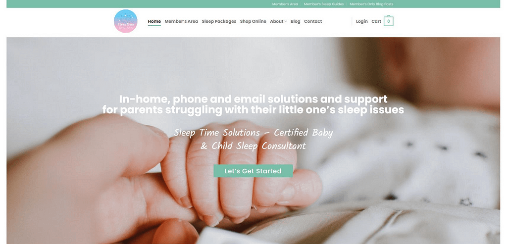 Sleep Time Solutions Website Portfolio