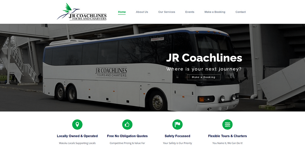 JR Coachlines Website Portfolio